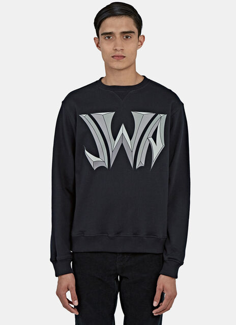 New Logo Print Crew Neck Sweater