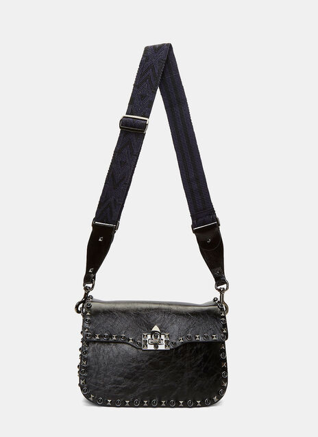 Medium Guitar Rockstud Rolling Crossbody Bag