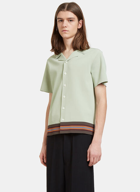 Striped Boxy Polo Shirt