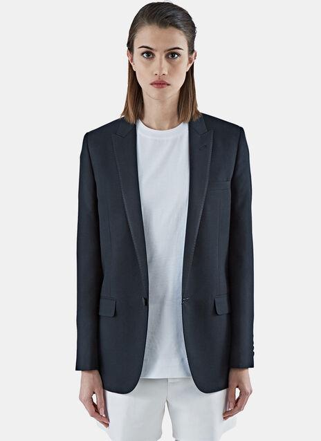 One Button Gabardine Tuxedo Jacket