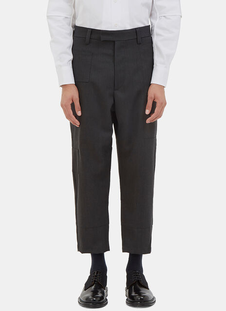 Cropped Patch Pants