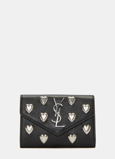 Heart Studded Envelope Wallet