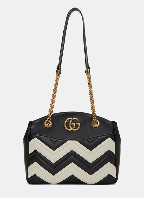 Marmont Monochrome Zigzag Quilted Handbag