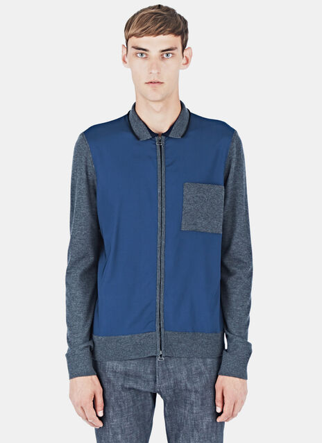 Mixed Panel Zipped Jacket