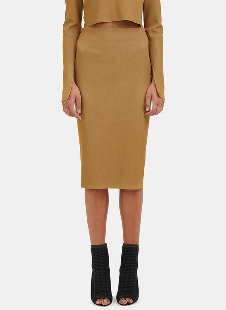 Bianka Ribbed Knit Pencil Skirt