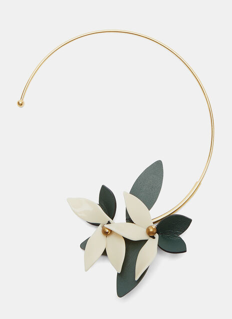 Leather Flower Choker