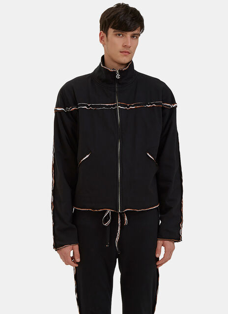 Raw Layered Track Jacket