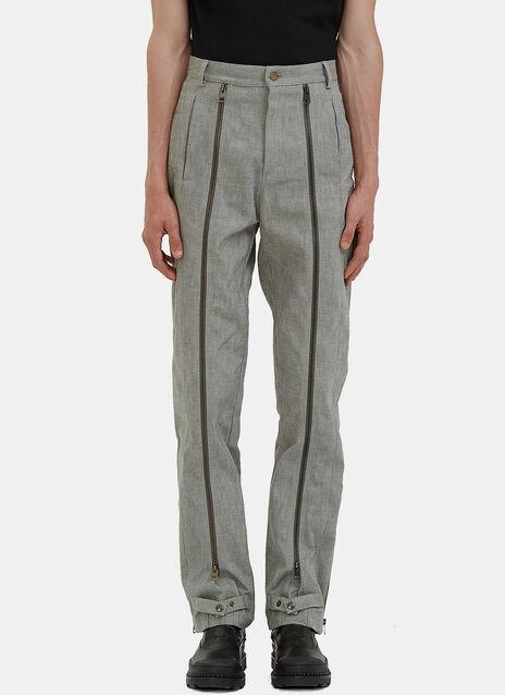 Mulit-Zipped Denim Pants