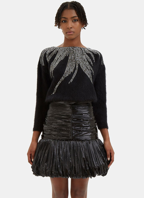 Crystal Embellished Mohair Sweater