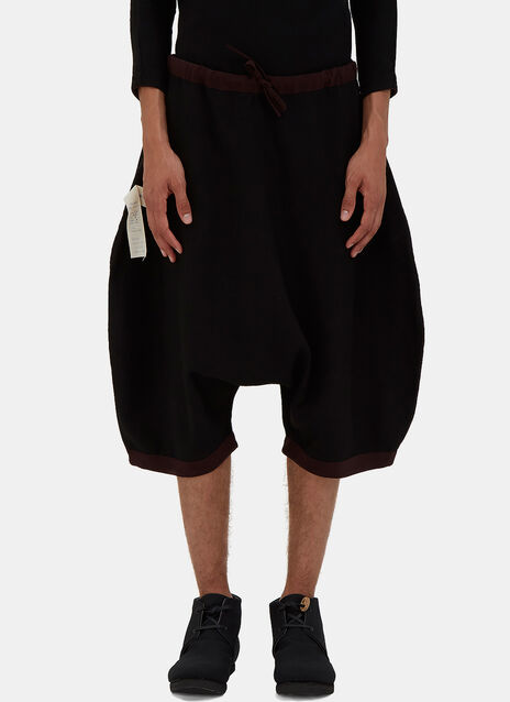 Oversized Reversible Dropped Crotch Shorts