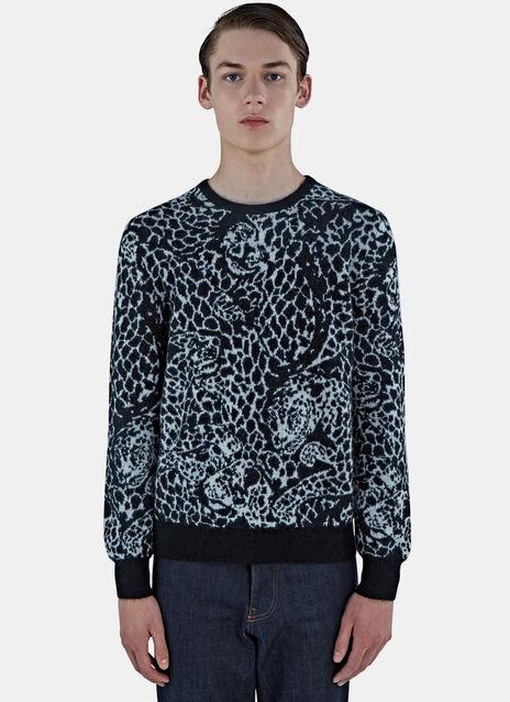 Leopard Mohair Knit Sweater