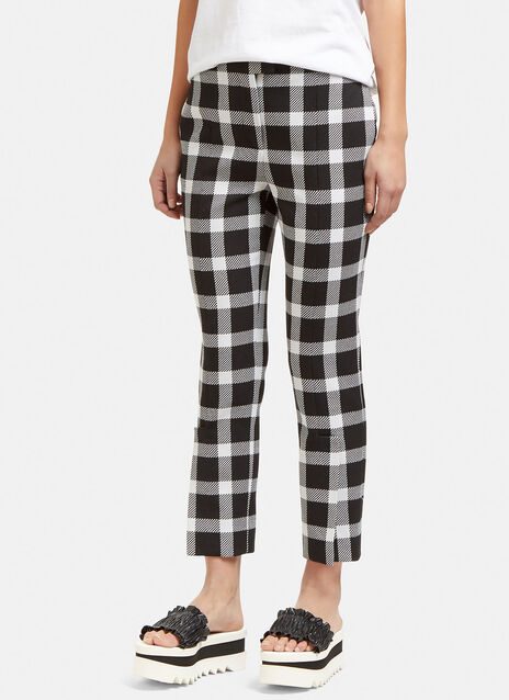 Checked Split Cuff Pants