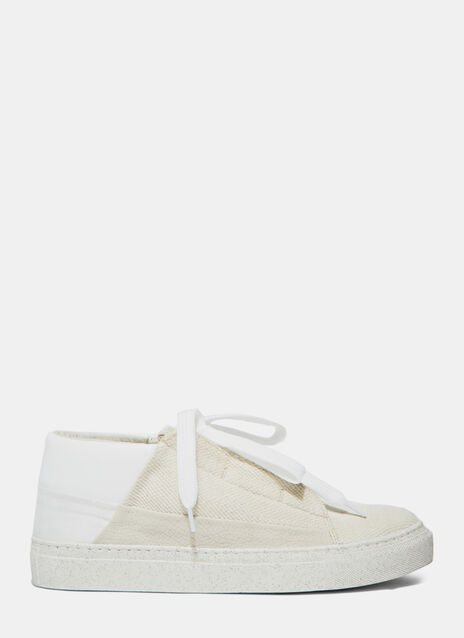 PREMA Mid-Top Canvas Sneakers