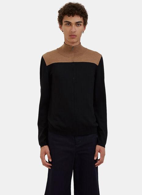 Emory Block Zip-Up Sweater