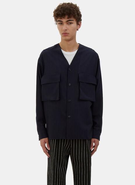 Oversized Pinstripe Jacket