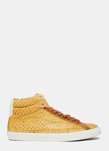 Esplar High Leather Tilapia Havana Sneakers
