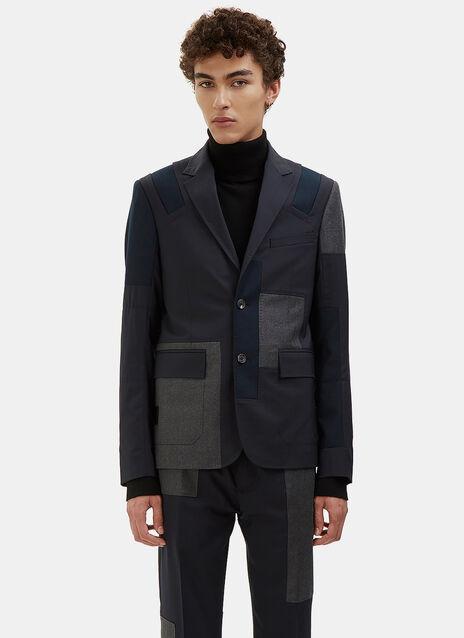 Patchwork Tailored Blazer Jacket
