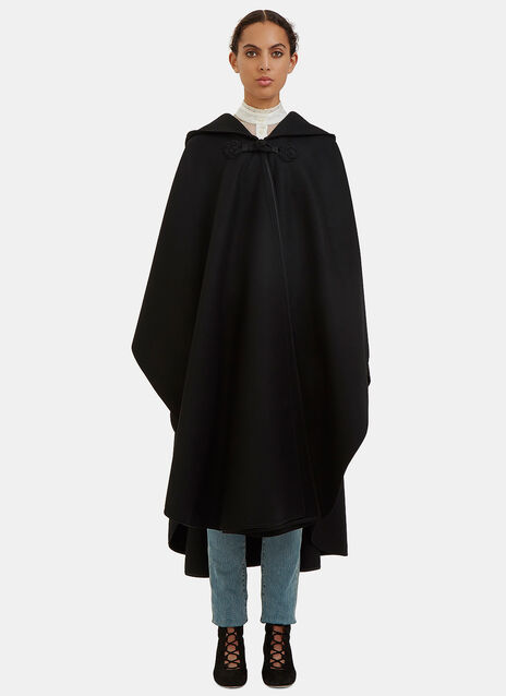 Oversized Hooded Cape Coat