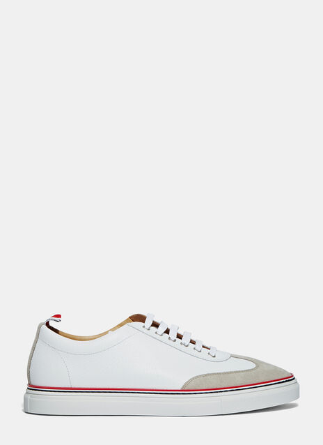 Suede Cap Low-Top Sneakers