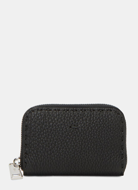 Roman Zipped Pebble Grained Wallet