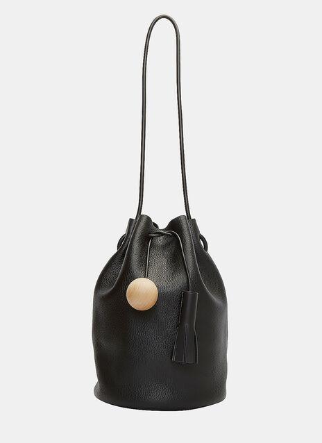 Pebbled Leather Bucket Bag