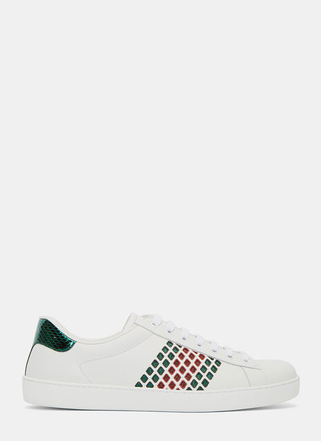 Metallic Cut-Out Sneakers