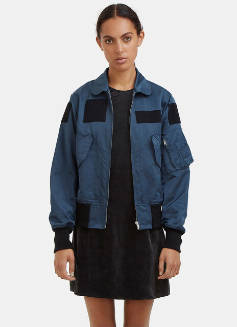 Slim Patched Bomber Jacket