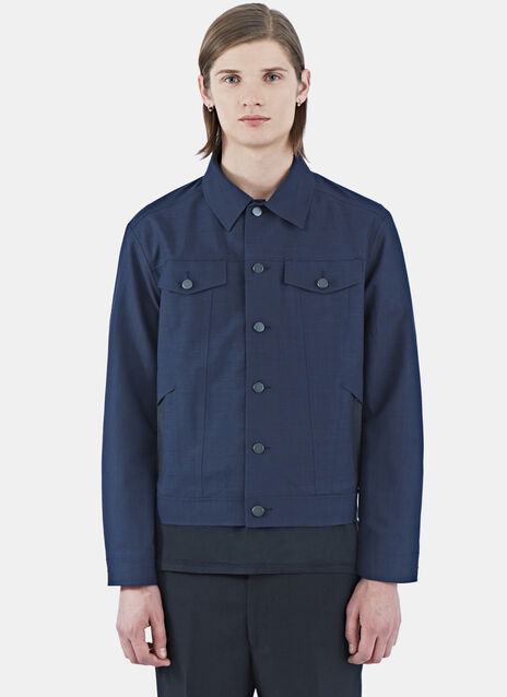 Technical Denim-Style Jacket