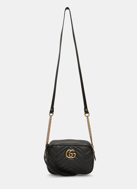 GG Marmont Chevron Quilted Matelassé Mini Bag