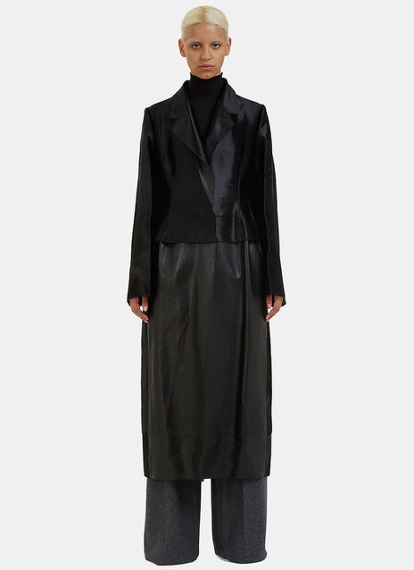 Hubert Calf Hair Trench Coat