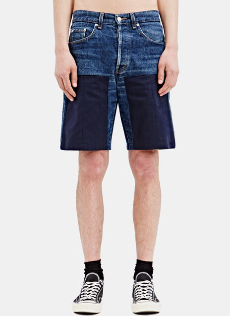 Schmidttakahashi Jeans Patch Shorts