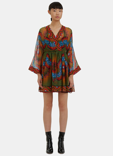 Enchanted Wonderland Babydoll Wrap Dress