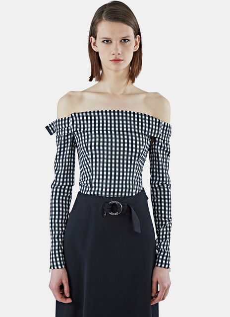Kailey Gingham Cropped Top