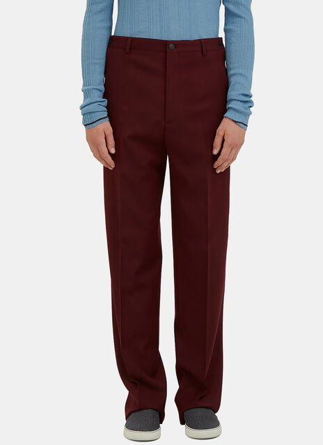 Straight Leg Buttoned Worker Pants
