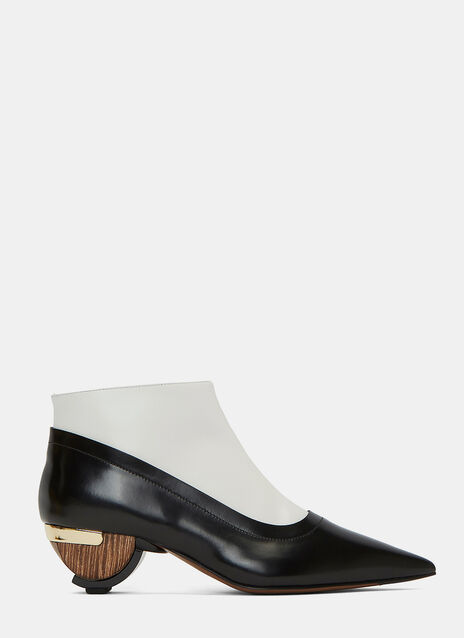 Wooden Heeled Ankle Boots