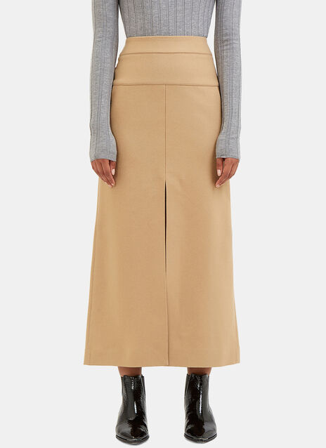 Pascal Long Wool Skirt