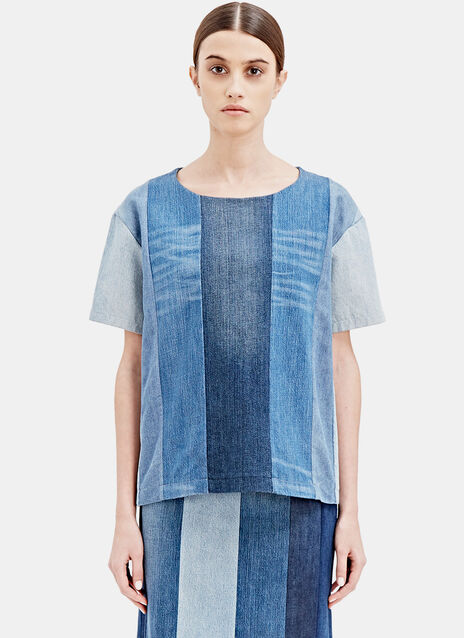 SCHMIDTTAKAHASHI Jeans-Stripe-Shirt