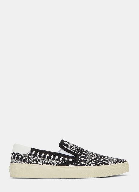 Skate 20 Skeleton Print Slip-On Sneakers