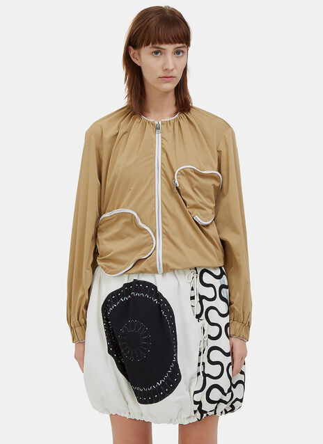 Zipped Squiggle Pocket Jacket