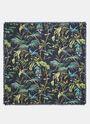 Tropical Print Silk Scarf