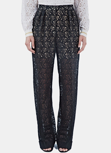 Wide Leg Lace Pants