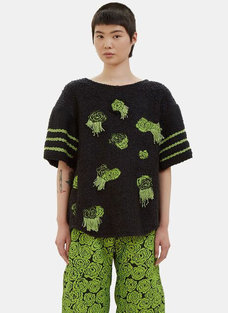 Vote Ethical Contrast Knit Short T-Shirt