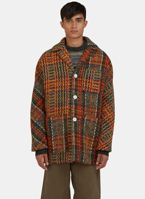 Min Oversized Tweed Jacket