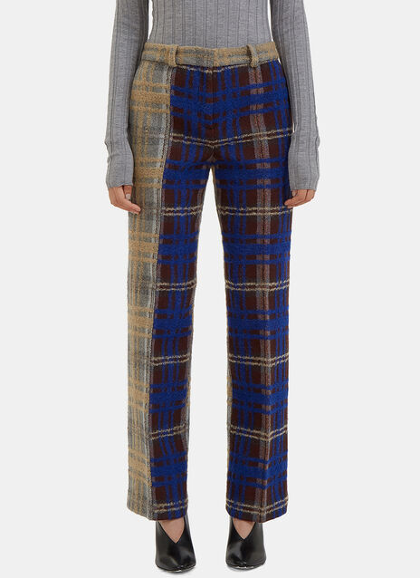 Maya Bi-Colour Checked Tweed Pants