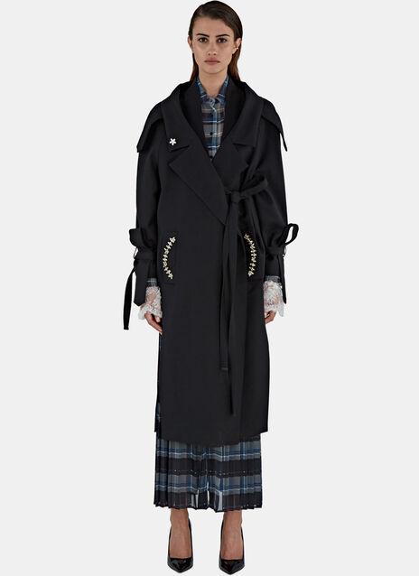 Ninouk Strapped Twill Trench Coat