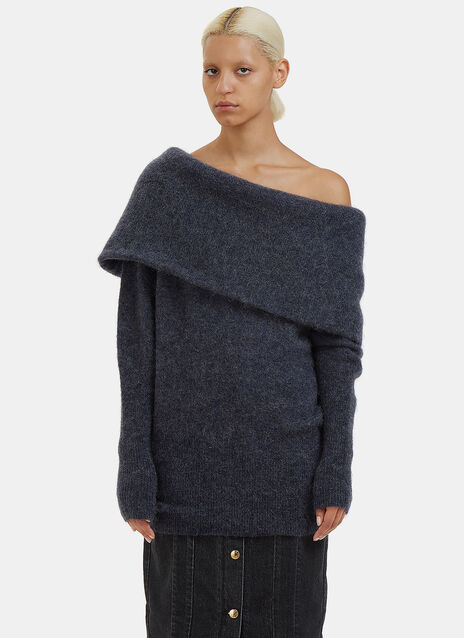 Daze Mohair Off-The-Shoulder Sweater