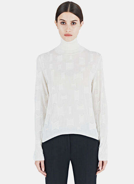 Agnona Layered cash & silk top Sweater