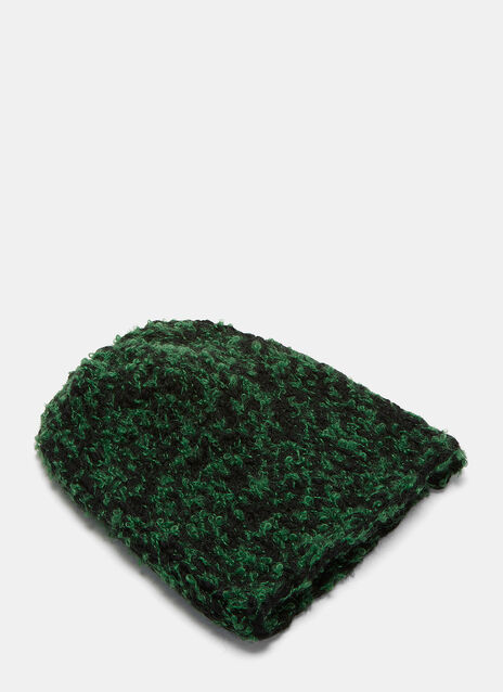 Two-Tone Pilled Knit Beanie Hat