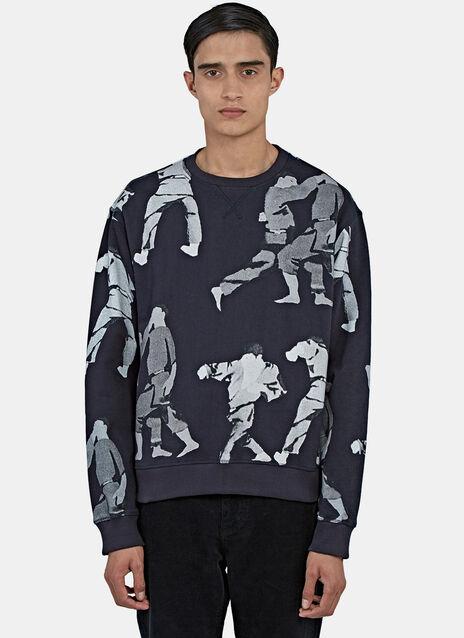 Judo Print Crew Neck Sweater