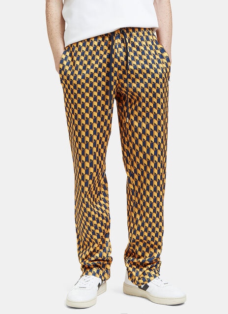 Geometric Print Technical Jersey Pants